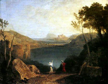 Joseph Mallord William Turner - Aeneas und Sibylle am Averner See
