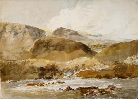 Joseph Mallord William Turner - Flußlandschaft in Nordwales