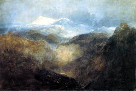Joseph Mallord William Turner - Waliser Berge mit einer Armee