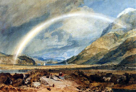 Joseph Mallord William Turner - Kilchurn Castle mit einem Regenbogen