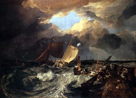 Joseph Mallord William Turner - The arrival of a package boat