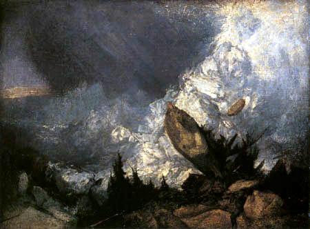 Joseph Mallord William Turner - Der Niedergang einer Lawine in Graubünden
