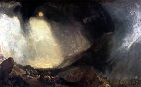 Joseph Mallord William Turner - Schneesturm- Hannibal überquert die Alpen