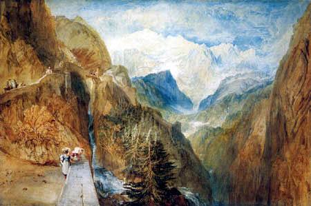 Joseph Mallord William Turner - Blick auf den Montblanc