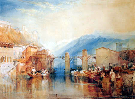 Joseph Mallord William Turner - Pont dans Grenoble