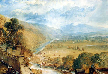 Joseph Mallord William Turner - Ingleborough von Hornby Castle aus