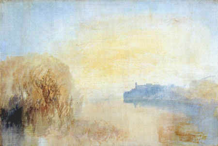 Joseph Mallord William Turner - Landscape in Tivoli with lake and palace