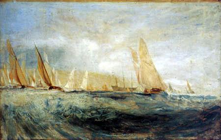 Joseph Mallord William Turner - Regatta in Cowes
