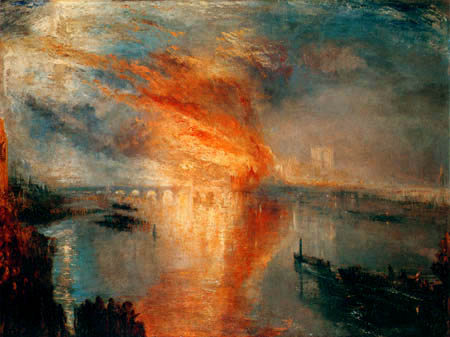 Joseph Mallord William Turner - The Fire of the Parliament
