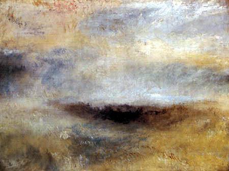 Joseph Mallord William Turner - Seascape in storm