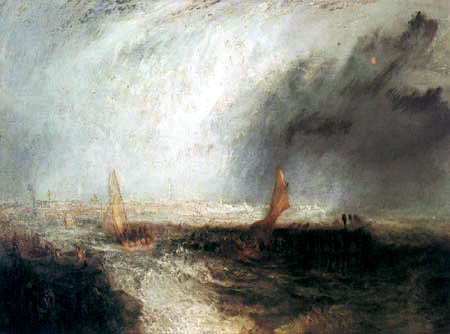 Joseph Mallord William Turner - Sailingvessels, Ostende
