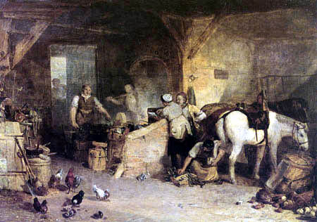 Joseph Mallord William Turner - A Country Blacksmith Disputing upon the Price of Iron