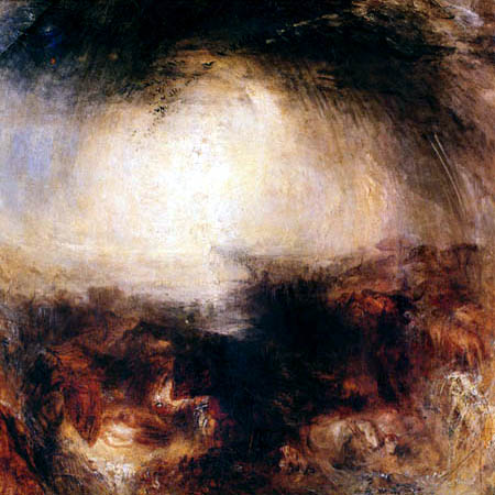 Joseph Mallord William Turner - Shadow and darkness - The Evening of the Deluge