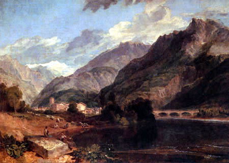 Joseph Mallord William Turner - Bonneville, Saboya, mit dem Mont Blanc