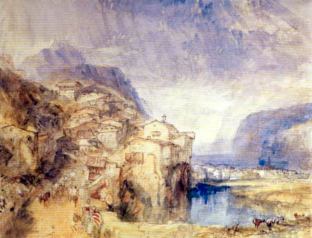 Joseph Mallord William Turner - Brunnen, with the lake of Lucerne