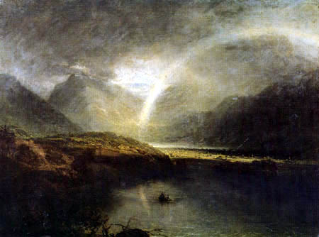 Joseph Mallord William Turner - Buttermere Lake, Cromackwater, Cumberland im Regen