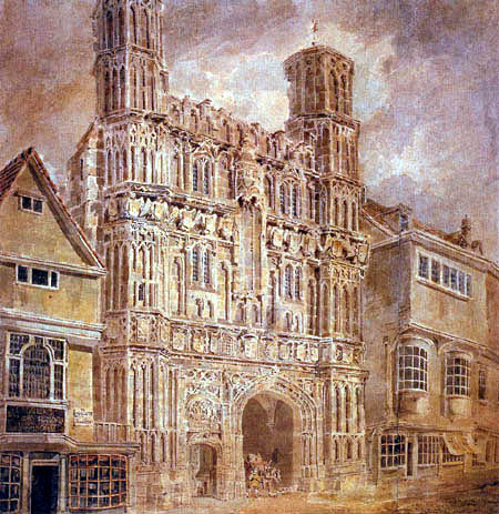 Joseph Mallord William Turner - Christchurch Gate, Canterbury