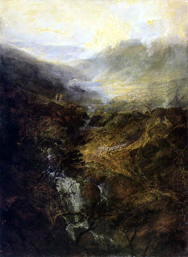 Joseph Mallord William Turner - Morgen bei den Coniston Fells, Cumberland