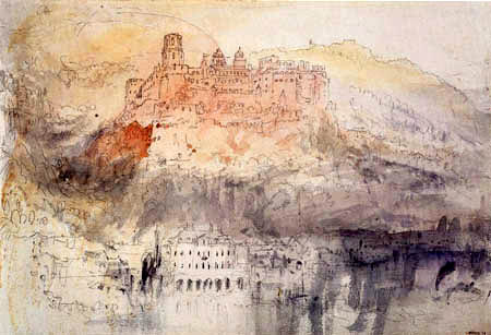 Joseph Mallord William Turner - The Heidelberg Castle, View from the Neckar