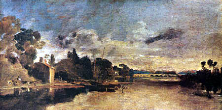 Joseph Mallord William Turner - Die Themse bei der Walton Brücke