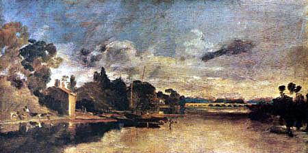 Joseph Mallord William Turner - The Thames near Walton Bridge