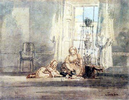 Joseph Mallord William Turner - Die Wells Kinder, spielend