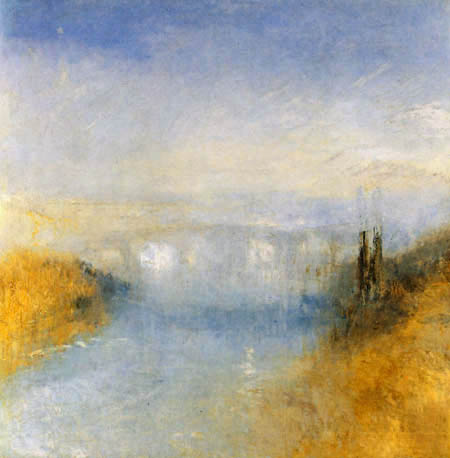Joseph Mallord William Turner - A River Seen from a Hill