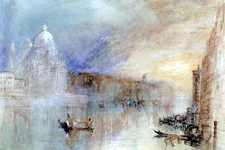 Joseph Mallord William Turner - Canal Grande und Santa Maria della Salute, Venedig