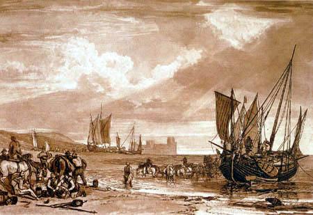Joseph Mallord William Turner - Szene an der französischen Küste