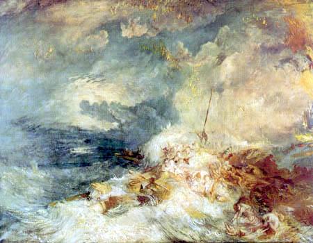 Joseph Mallord William Turner - Fuego en el mar