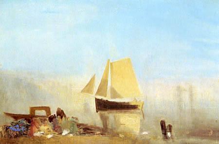 Joseph Mallord William Turner - Fishing Boat in a Mist