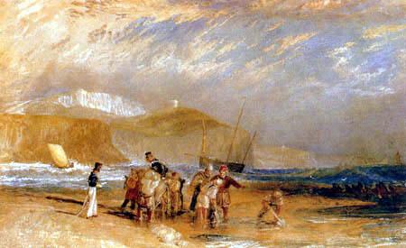 Joseph Mallord William Turner - Folkestone Harbour y la costa de Devon