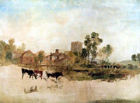 Joseph Mallord William Turner - Mühle und Kirche