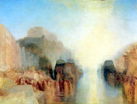 Joseph Mallord William Turner - Harbour with Town and Fortress