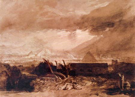 Joseph Mallord William Turner - Die fünfte Plage von Ägypten
