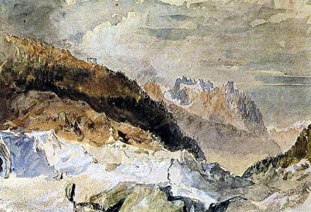Joseph Mallord William Turner - Mer de Glace, Chamonix