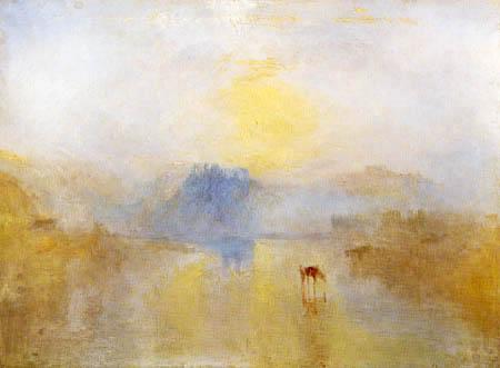 Joseph Mallord William Turner - Norham Castle, Sunrise