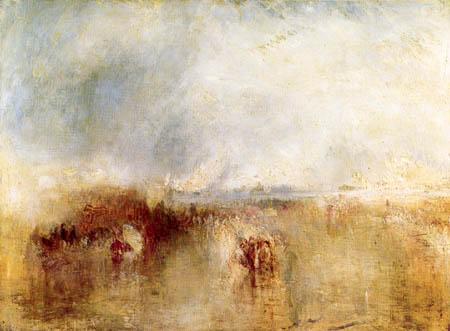 Joseph Mallord William Turner - Procession of Boats with Distant Smoke, Venice