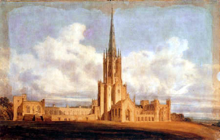 Joseph Mallord William Turner - Project of design of Fonthill Abbey, Wiltshire