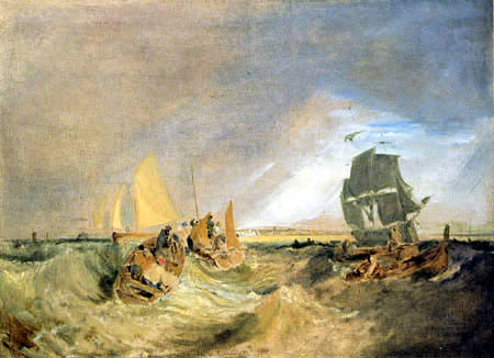 Joseph Mallord William Turner - Schiffe an der Themsemündung