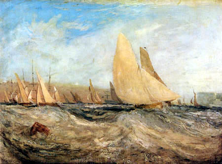 Joseph Mallord William Turner - Sketch for East Cowes Castle, The Regatta Beating to Windward