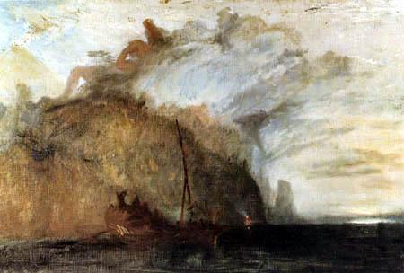 Joseph Mallord William Turner - Odysseus verhöhnt Polyphem, Homers Odyssee, Skizze