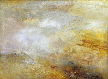 Joseph Mallord William Turner - Stormy Sea with dolphins