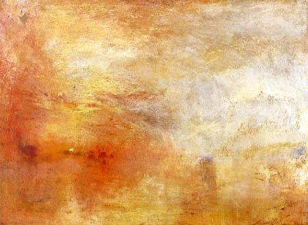 Joseph Mallord William Turner - Sun Setting over a Lake