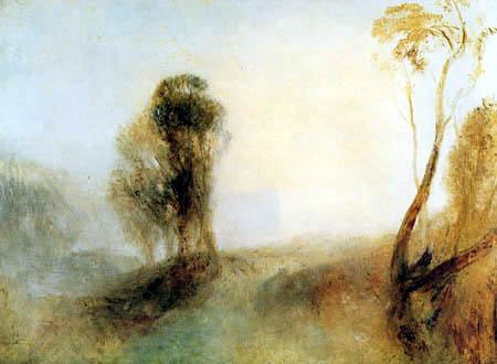 Joseph Mallord William Turner - Sunrise, A Castle on a Bay -Solitude-