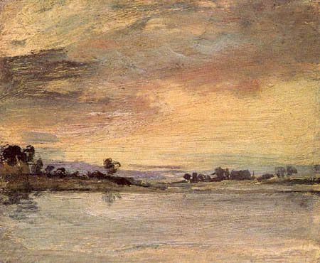 Joseph Mallord William Turner - Sonnenuntergang auf dem Fluß