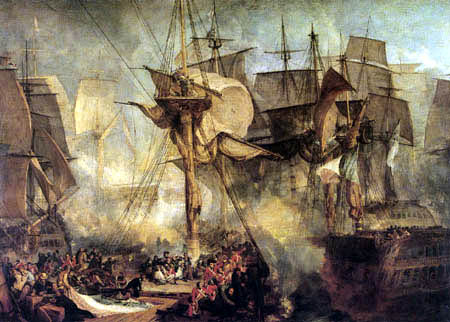 Joseph Mallord William Turner - Die Schlacht von Trafalgar