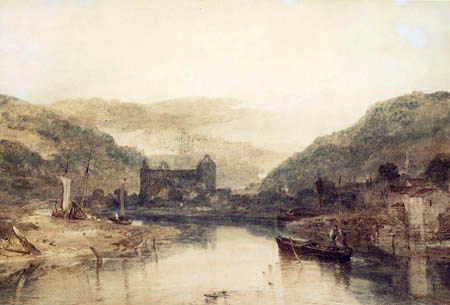 Joseph Mallord William Turner - View of Tintern Abbey from the River Wye