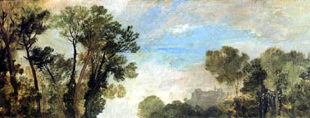 Joseph Mallord William Turner - Tree tops and sky, Guildford Castle, Evening