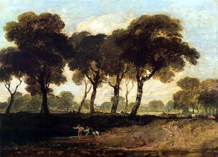Joseph Mallord William Turner - Blick auf Clapham Common